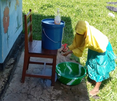 Covid hand washing station